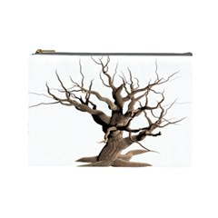 Tree Isolated Dead Plant Weathered Cosmetic Bag (Large)