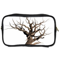 Tree Isolated Dead Plant Weathered Toiletries Bags 2 Side