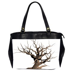 Tree Isolated Dead Plant Weathered Office Handbags (2 Sides)