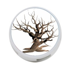 Tree Isolated Dead Plant Weathered 4 Port Usb Hub (one Side)