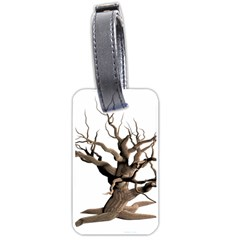 Tree Isolated Dead Plant Weathered Luggage Tags (one Side)
