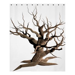 Tree Isolated Dead Plant Weathered Shower Curtain 60  x 72  (Medium)