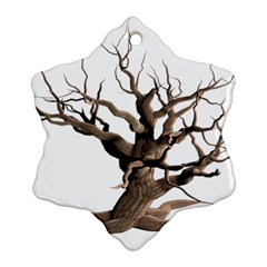 Tree Isolated Dead Plant Weathered Ornament (Snowflake)
