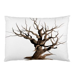 Tree Isolated Dead Plant Weathered Pillow Case (Two Sides)