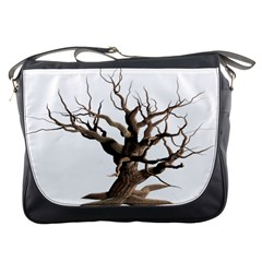 Tree Isolated Dead Plant Weathered Messenger Bags