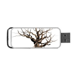 Tree Isolated Dead Plant Weathered Portable USB Flash (One Side)