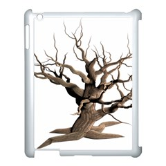 Tree Isolated Dead Plant Weathered Apple iPad 3/4 Case (White)