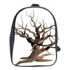 Tree Isolated Dead Plant Weathered School Bags (xl)
