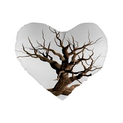 Tree Isolated Dead Plant Weathered Standard 16  Premium Heart Shape Cushions