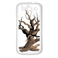 Tree Isolated Dead Plant Weathered Samsung Galaxy S3 Back Case (white)