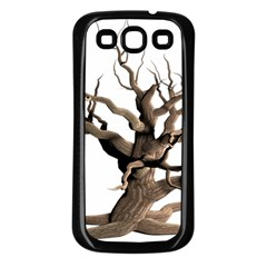 Tree Isolated Dead Plant Weathered Samsung Galaxy S3 Back Case (black)