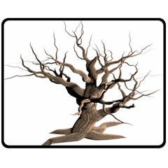 Tree Isolated Dead Plant Weathered Double Sided Fleece Blanket (medium)