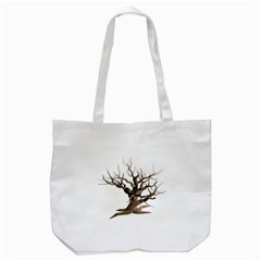Tree Isolated Dead Plant Weathered Tote Bag (white)