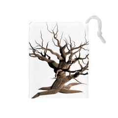 Tree Isolated Dead Plant Weathered Drawstring Pouches (medium)