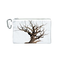 Tree Isolated Dead Plant Weathered Canvas Cosmetic Bag (S)