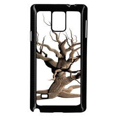 Tree Isolated Dead Plant Weathered Samsung Galaxy Note 4 Case (black)