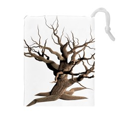 Tree Isolated Dead Plant Weathered Drawstring Pouches (Extra Large)