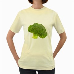 Broccoli Bunch Floret Fresh Food Women s Yellow T Shirt