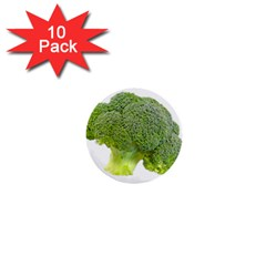 Broccoli Bunch Floret Fresh Food 1  Mini Buttons (10 Pack)