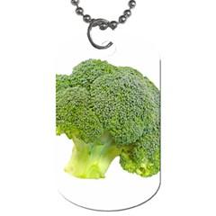 Broccoli Bunch Floret Fresh Food Dog Tag (one Side)