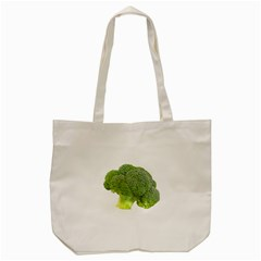 Broccoli Bunch Floret Fresh Food Tote Bag (cream)