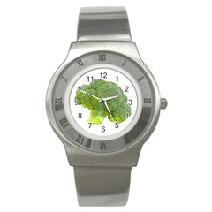 Broccoli Bunch Floret Fresh Food Stainless Steel Watch