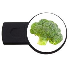 Broccoli Bunch Floret Fresh Food USB Flash Drive Round (4 GB)