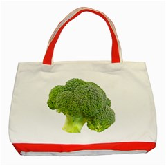 Broccoli Bunch Floret Fresh Food Classic Tote Bag (Red)