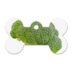 Broccoli Bunch Floret Fresh Food Dog Tag Bone (one Side)