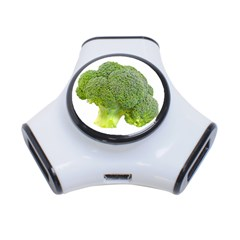 Broccoli Bunch Floret Fresh Food 3-Port USB Hub