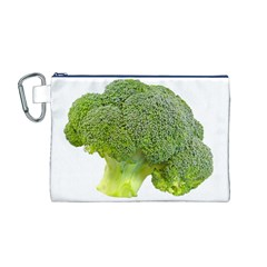 Broccoli Bunch Floret Fresh Food Canvas Cosmetic Bag (m)