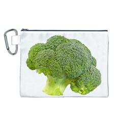 Broccoli Bunch Floret Fresh Food Canvas Cosmetic Bag (l)