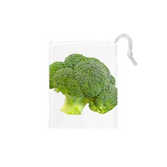Broccoli Bunch Floret Fresh Food Drawstring Pouches (XS)