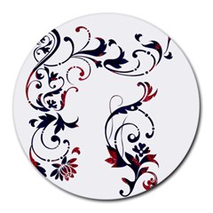 Scroll Border Swirls Abstract Round Mousepads