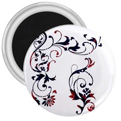 Scroll Border Swirls Abstract 3  Magnets