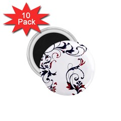 Scroll Border Swirls Abstract 1.75  Magnets (10 pack)