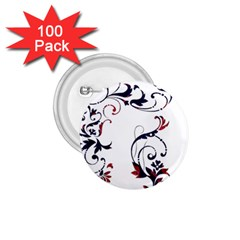 Scroll Border Swirls Abstract 1.75  Buttons (100 pack)