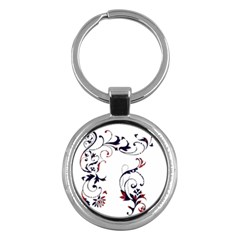 Scroll Border Swirls Abstract Key Chains (Round)
