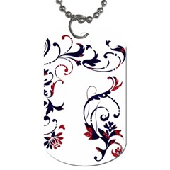 Scroll Border Swirls Abstract Dog Tag (Two Sides)