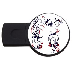 Scroll Border Swirls Abstract USB Flash Drive Round (1 GB)