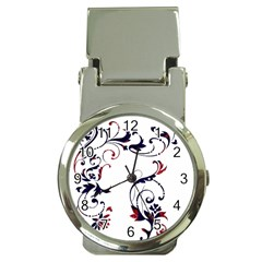 Scroll Border Swirls Abstract Money Clip Watches