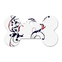Scroll Border Swirls Abstract Dog Tag Bone (one Side)