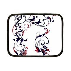 Scroll Border Swirls Abstract Netbook Case (Small)