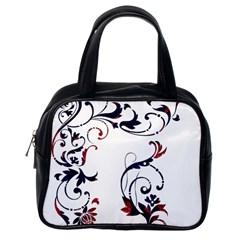 Scroll Border Swirls Abstract Classic Handbags (one Side)