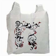 Scroll Border Swirls Abstract Recycle Bag (one Side)