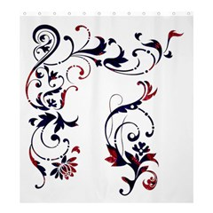 Scroll Border Swirls Abstract Shower Curtain 66  X 72  (large)