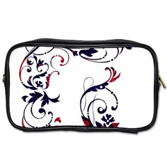 Scroll Border Swirls Abstract Toiletries Bags 2-Side