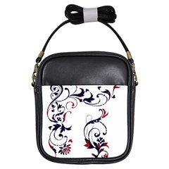 Scroll Border Swirls Abstract Girls Sling Bags