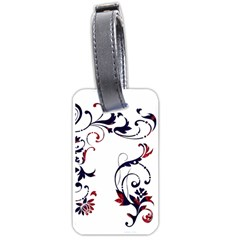 Scroll Border Swirls Abstract Luggage Tags (One Side)