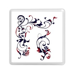 Scroll Border Swirls Abstract Memory Card Reader (Square)